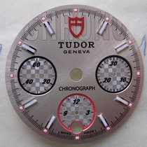 Tudor SPORT CHRONOGRAPH 20300 WATCH PART SILVER RACING-STYLE DIAL