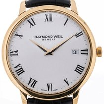 Raymond Weil Toccata 42 Black Leather Strap White Dial