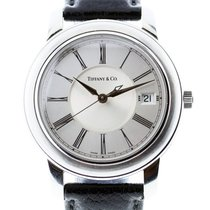Tiffany & Co. Atlas Stainless Steel Watch on Leather Band