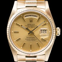 """Rolex 18038 Day Date """"TIFFANY & CO"""" Yellow Gold / President..."""