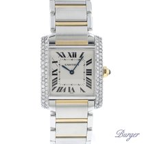 Cartier Tank Francaise MM Steel / Gold Diamonds
