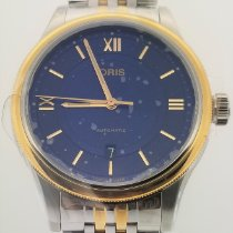 Oris Classic Gold/Steel 42mm Blue Roman numerals United States of America, Alabama, Oranjestad