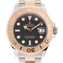 Rolex Yacht-Master 37 Gold/Steel 37mm Black