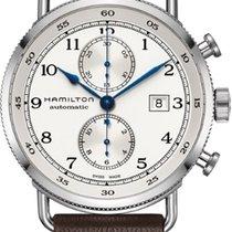 Hamilton Khaki Navy Pioneer Steel 44mm Silver Arabic numerals