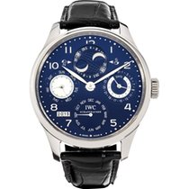 IWC Portuguese Perpetual Calendar White gold Blue Arabic numerals United States of America, New York, NEW YORK