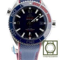 Omega Seamaster Planet Ocean Ocel 43.5mm Modrá Arabské