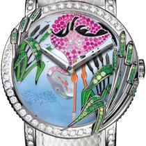 Boucheron new Automatic White gold Sapphire crystal