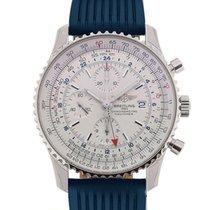 百年靈 (Breitling) Navitimer World 46 Chronograph Silver Dial...