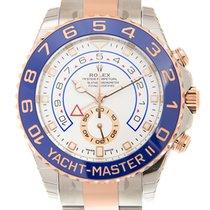 勞力士 Yacht Master 18k Rose Gold And Steel White Automatic 116681-