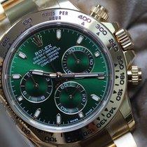 Rolex Daytona Or jaune 40mm Vert Sans chiffres France, Thonon les bains