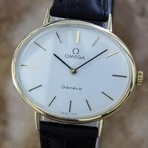 Omega Geneve Swiss Made 1970s Unisex Rare Gold Plated Vintage...