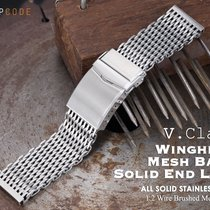 MiLTAT 22mm Winghead SHARK Mesh Band, Brushed