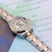 Rolex 2001 26mm 18K/SS Datejust Custom MOP Diamonds - Box &...