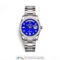 Rolex Day-Date 36 Złoto białe 36mm Niebieski Bez cyfr