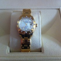 Rolex Lady-Datejust Pearlmaster Or jaune 29mm Nacre Sans chiffres France, MOUGINS