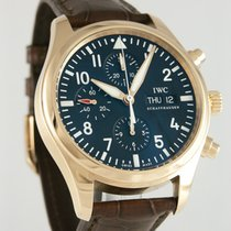 IWC Red gold Automatic Black Arabic numerals 42mm pre-owned Pilot Chronograph