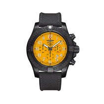 Breitling Steel Automatic Yellow Arabic numerals 50mm new Avenger Hurricane