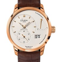 Glashütte Original Red gold Manual winding Silver No numerals 40mm new PanoReserve