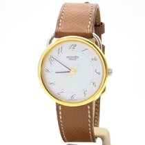 Hermès Arceau pre-owned 30mm White Leather