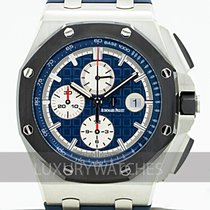 Audemars Piguet Platine Remontage automatique Bleu 44mm occasion Royal Oak Offshore Chronograph