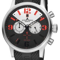 Jacques Lemans Steel 48mm Quartz 1-1668B new