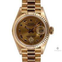 Rolex Lady-Datejust Жёлтое золото 26mm Цвета шампань Римские