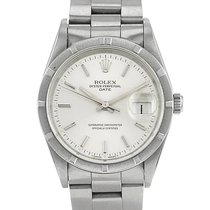 Rolex Oyster Perpetual Date en acier Ref : 15210 Vers 91