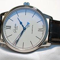 Glashütte Original Senator Excellence 1-36-01-01-02-30 Glashutte Senatore eccellenza Lancette Blu new