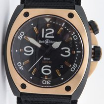 Bell & Ross Marine Br02-20 Automatic Pvd & 18k Rose Gold...
