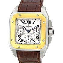 Cartier Santos 100 Xl Chronograph W20091x7