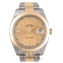 롤렉스 (Rolex) Datejust 41 Champagne 18k yellow gold/Steel 41mm...