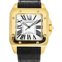 Cartier W20071Y1 Santos 100 in Yellow Gold Large Size - On...