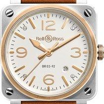 Bell & Ross BR0392-ST-PG/SCA Gold/Steel BR 03-92 Steel new