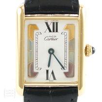Cartier Tank Vermeil 925 Silber vergoldet Medium Revision