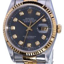 Rolex Datejust Gold Steel Rhodium Dial Diamonds 36 mm (Full Set)
