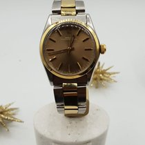 Rolex Oyster Perpetual Ouro/Aço 31mm Champanhe