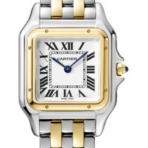 Cartier new Quartz 27mm Gold/Steel Sapphire crystal