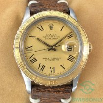 Rolex Datejust Turn-O-Graph Gold/Steel 36mm Champagne No numerals