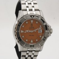 Tudor Steel Automatic Orange No numerals 40mm pre-owned Hydronaut