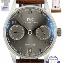 IWC Portuguese Automatic pre-owned 42.3mm Date Leather