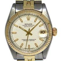 Rolex Lady-Datejust Or/Acier 31mm Argent Sans chiffres