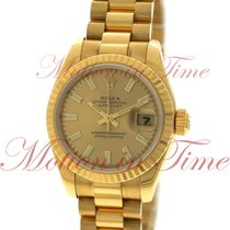 Rolex Datejust Ladies President 26mm, Champagne Dial, Fluted...