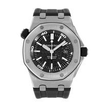 Audemars Piguet Steel Automatic Black No numerals 42mm pre-owned Royal Oak Offshore Diver