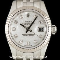 Rolex S/Steel Mother Of Pearl Diamond Dial Datejust Ladies 179174