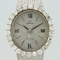 Omega Vintage Diamonds Quartz White Gold Lady