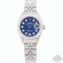 Rolex Ladies DateJust |Steel Smooth Bezel | Blue Diamond Dial...