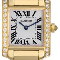 Cartier Tank Francaise 18k Yellow Gold & Diamonds Ladies Watch...