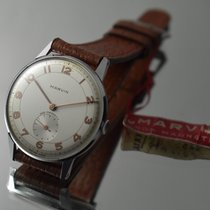 Marvin 34mm Manual winding pre-owned White