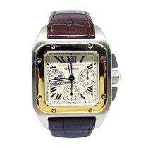 Cartier Santos 100 XL Chronograph Steel/Gold Ref. 2740 Full...
