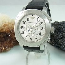 Armani Chronograph 47mm Quarz gebraucht Silber